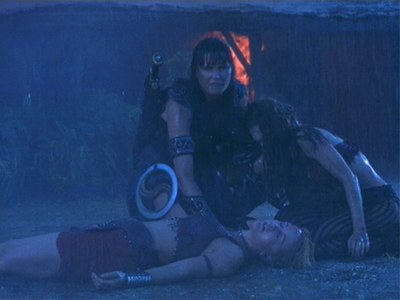 Who brought Xena,Eve & Gabrielle to Olympus?