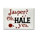What frightening thing does bella notice about jasper when she first became a vampire?
