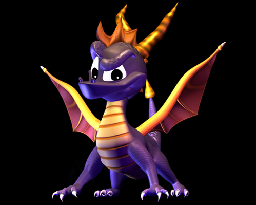 In the making of Spyro the Dragon, The developers originally made Spyro what color?