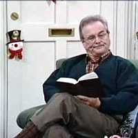 What story does Mr. Feeny read at The Matthews' every Christmas?