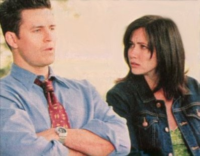 Where do Prue and Andy meet each other again for the first time?