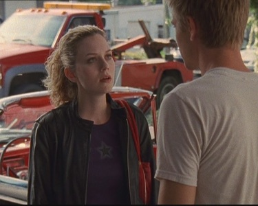 Why was Peyton angry at Lucas in this scene?