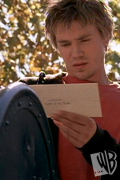 What did Lucas write on the letter which he'd sent to Brooke?