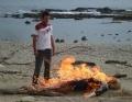 In which episode in season 3 of heroes did Sylar burn Elle's body?? (sorry chels125843!)