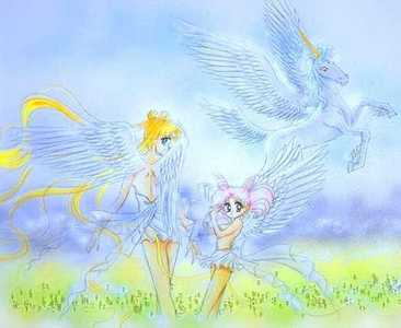 Where did Pegasus first contact chibi Moon?