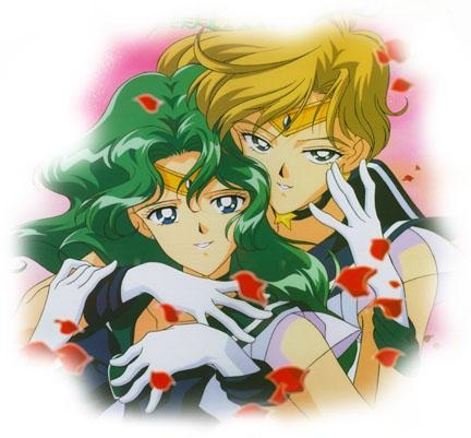 In the original Japanese Manga and TV show, Sailor Neptune and Uranus were a couple. What did the American version of the TV Zeigen change them to?