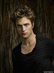 Where did Robert Pattinson audition for the role of Edward Cullen?