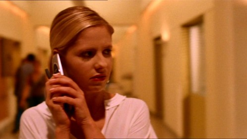 What did Buffy cover saying who she is talking to?
