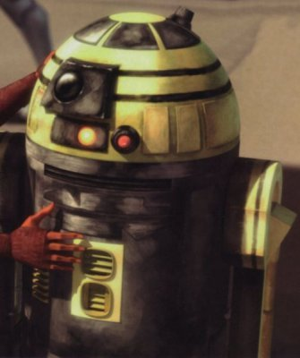 What is the name of the droid spy that fights R2d2?