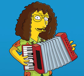 What was the name of the episode in which Weird Al Yankovic first appeared with the Simpsons?