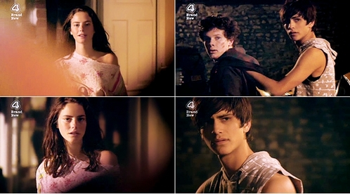 Skins - What does Effy say to Freddie when he arrives at the party in 3x04?