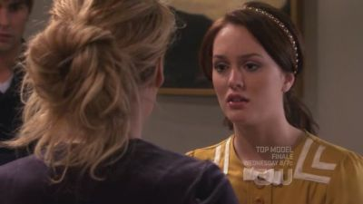 Blair: Serena, what are u doing here? It's late. From which episode?