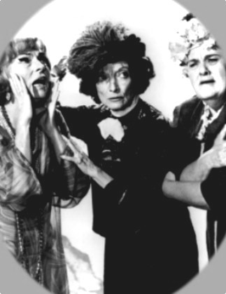 Bewitched scene with Endora and two of Samantha's aunts. What were the aunts' names?
