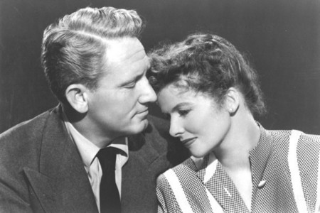 How many films did Katharine and Spencer Tracy make together?