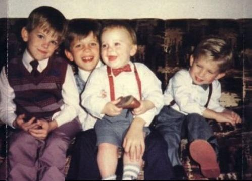 A childhood picture of the boys. Which of these is in the correct order. (FROM LEFT TO RIGHT)