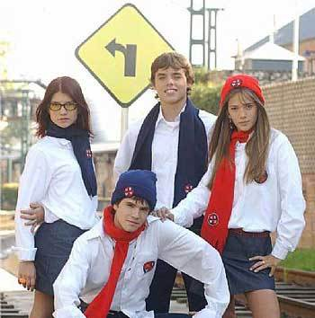 Main characters in Rebelde Way are ...