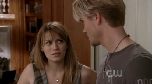 What are Haley and Lucas talking about?