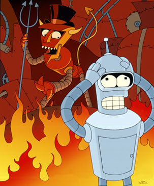 What instrument must Leela play better than the devil in order to save Bender from Robot Hell?