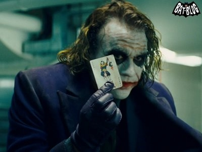 Who does the Joker blame for his scars?