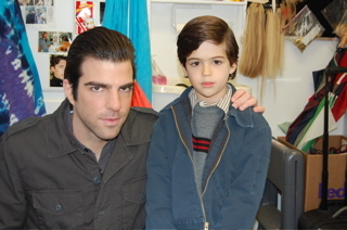Who is the boy next to Zachary Quinto?
