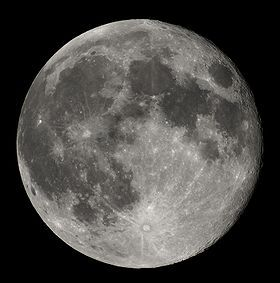 What is the equatorial circumference of the moon?