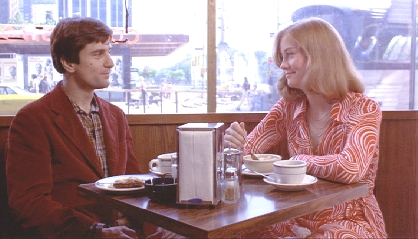 OCCUPATIONAL HAZARD: Travis Bickle's profession may be in obvious in 'Taxi Driver' but what does his l'amour interest Betsy do for a living?