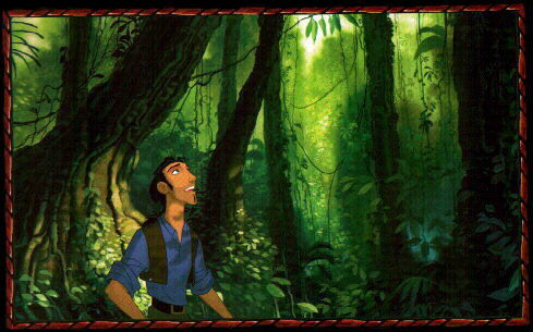 What companion follows Miguel and Tulio around after they arrive on the island in The Road to El Dorado?
