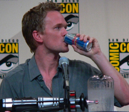 NPH likes Red Bull so much he was given a lifetime supply and a mini-refrigerator because of all the free advertising they were getting through him.