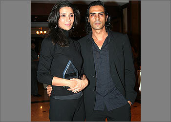 what is the name of Arjun Rampals wife?