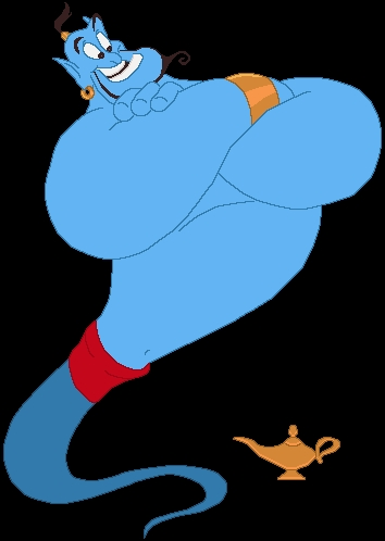 Who played the voice of the Genie?