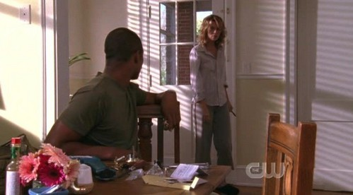 Peyton: Fine, if it'll get tu out of my house, I'll go to school. Derek: Fine, I'll drive you. Peyton: Fine. Derek: Get moving! It's _____