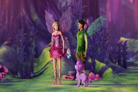 What is the name of Elina's romantic interest in Barbie: Magic of the Rainbow?