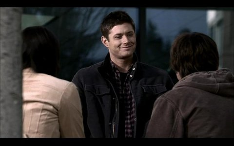 "What was Dean's answer to Sam's ""You've been in there forever"" line in the Phantom Traveler eppy?"
