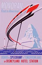 In what year did Disneyland's monorail make its maiden voyage?