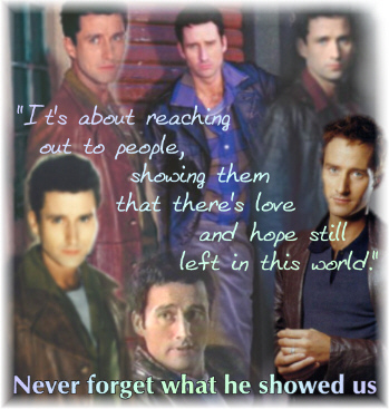 "Which episode ended with the phrase ""In Loving Memory of Glenn Quinn"" before the credits rolled?"
