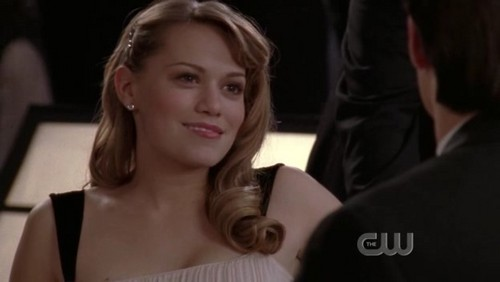 Haley: This is the weirdest prom ever! No Peyton, no Brooke, no Lucas, no Mouth!