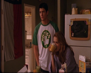 Who are Nathan and Haley looking at?