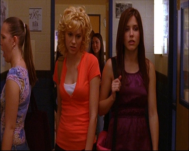 Peyton: I can't believe this is almost the last time we're walking to class together. Brooke: ...