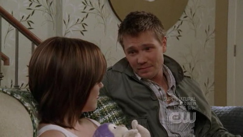 Lucas: So wewe got her a purple monkey, huh? Just like _____. Brooke: wewe remember that?