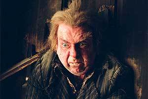 With what does Wormtail get strangled with?