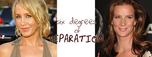 SIX DEGREES OF SEPARATION: What televisheni onyesha does NOT connect Felicity Huffman and Rachel Griffiths in three moves?