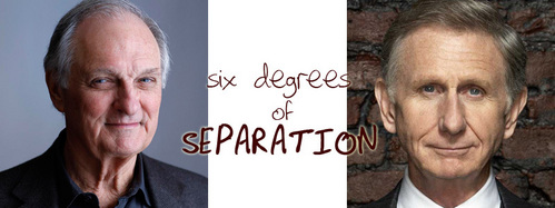 SIX DEGREES OF SEPARATION: What Televisyen tunjuk does NOT connect Alan Alda and Rene Auberjonois in three moves?
