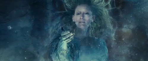 In this scene what did the White Witch need to break free?