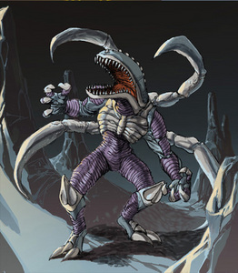What two alien monsters was the creator inspired to make The Vistor (monster that almost been decided for Godzilla:Unleashed)?