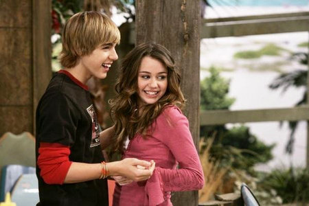 "In ""What are Friends for?"" what does Miley say when Jake Ryan announce that Mykela is going to starr in his new movie?"