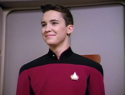 In which Season Five episode do we see Wesley for the first time as Cadet Crusher?