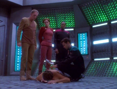 NAME THE EPISODE: Odo is suspected in the death of a Bajoran criminal.