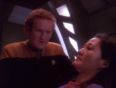 NAME THE EPISODE: Keiko is possessed door a being who threatens to kill her body unless O'Brien completes certain reconfigurations to DS9's systems.
