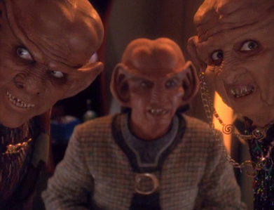 NAME THE EPISODE: Quark's mother is charged with the crime of making money.