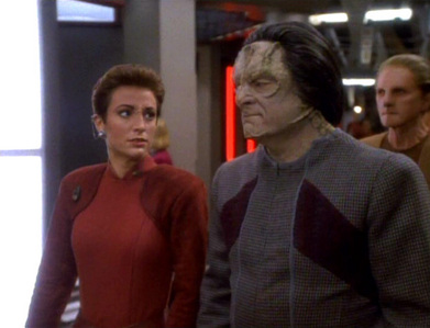 NAME THE EPISODE: Kira arrests a Cardassian who proclaims himself to be the man who authorized the genocidal killings of Bajorans.